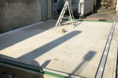 2. New Concrete Slab, with drainage point