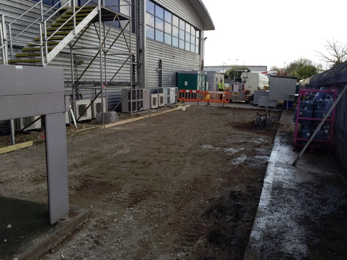Groundworks - Forework and setting out Completed